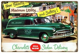 Chevrolet's New Beauty Sedan  Classic Car Sign - $19.80