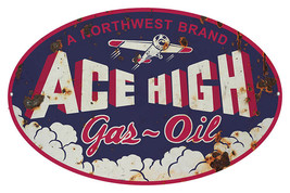 Large Reproduction Oval Northwest Ace High Moto... - $29.70