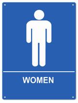 Public Women Bathroom Sign - $19.80