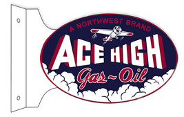 Oval Flange Northwest Ace High Gas Motor Oil Si... - $50.49