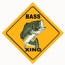 Bass Xing Crossing Caution Fisherman's Sign - $25.74