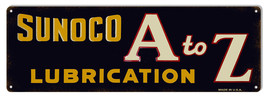 Sunoco A To Z Lubrication Sign 8X24 - $39.55