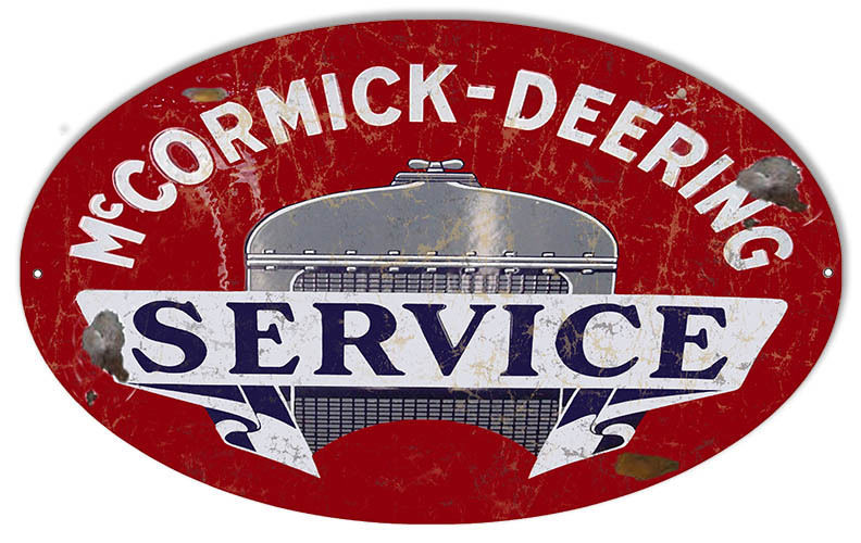 Aged Looking Mccormick Deering Motor Oil Sign 11X18 Oval - $29.70