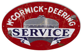 Aged Looking Mccormick Deering Motor Oil Sign 11X18 Oval - $29.70