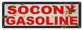 Large Reproduction Socony Gasoline Motor Oil Sign 8X24 - $39.60