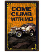Reproduction Orange Come Climb With Me Jeep Sign - $23.76