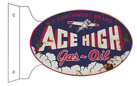 Reproduction Oval Northwest Ace High Gas Motor ... - $50.49
