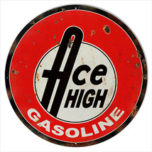 Extra Large Reproduction Ace High Gasoline Moto... - $79.20