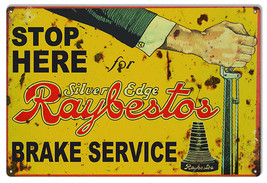 "Reproduction Stop Here Raybestos Sign. 12'x118"" - $23.76"