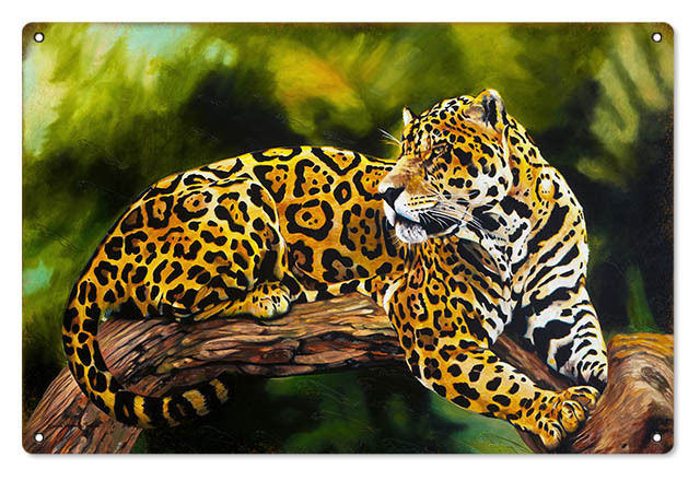 "Primary image for Reproduction Jaguar Sign 12""x18"""