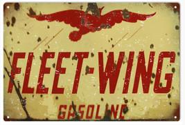 Fleet-Wing Gasoline Station Sign Garage Art Reproduction - $25.74