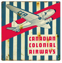 Reproduction of Canadian Colonial Airways sign. 12X12 - $25.74