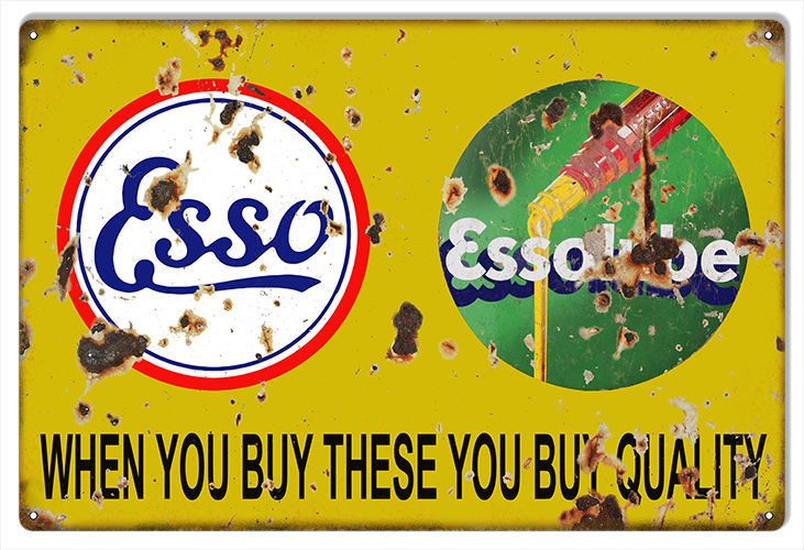 "Primary image for Reproduction Quality ESSO Essolube Sign 12""x18"""