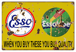"Reproduction Quality ESSO Essolube Sign 12""x18"" - $25.74"