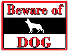 Beware Of Dog Sign 9X12 - $17.82
