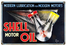 Reproduction Modern Lubrication Shell Motor Oil... - $21.78