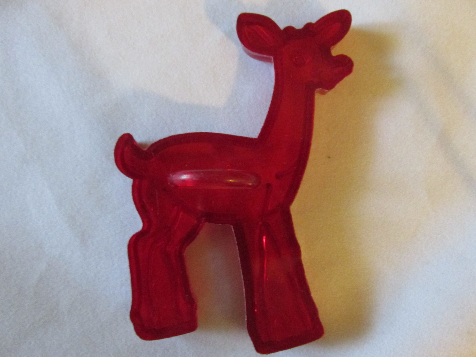 Vintage Red Plastic Christmas Cookie Cutters-Santa, Rudolph, Ginger Bread Boy...