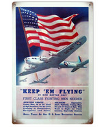 Keep EM Flying Is Our Battle Cry Patriotic Military War Sign - $25.74