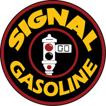 Large Round Signal Gas Motor Oil And Gasoline Sign with Stop Light - $46.53