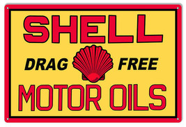 "Shell Drag Free Motor Oils Sign 16""x24"" - $39.60"