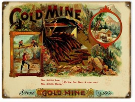 Gold Mine Smoke Cigar and Tobacco Sign - $19.80