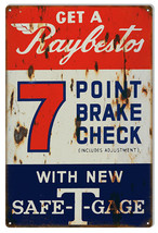 Reproduction Raybestos 7 Point Brake Check Sign 16X24 - $39.55