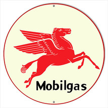 "Extra Large Mobilgas Gasoline 24"" Round with Pegasus Sign - $79.20"
