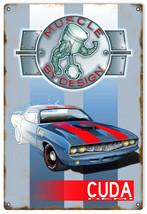 Original Art by Bernard Oliver Cuda Hemi Muscle Car Hot Rod Sign - $25.74