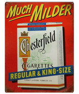 Much Milder Chesterfield Cigarettes Regular and King Tobacco Bar Sign - $19.80