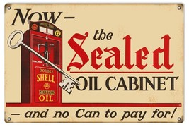 Reproduction Shell Sealed Oil Cabinet Sign 16X24 - $39.55