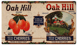 Oak Hill Cherries Brand Country Farmers Fruit Growers Label - $19.80
