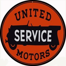 United Service Motor Sign 24X24 Round - $79.20