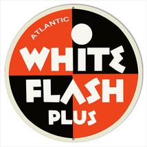 Large White Flash Plus Motor Oil Sign 18 Round - $46.53
