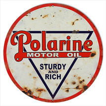 Extra Large Reproduction Polarine Sturdy And Rich Motor Oil Sign 24 - $79.20
