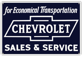 "Economical Transportation Chevrolet Sign 12""x18"" - $25.74"