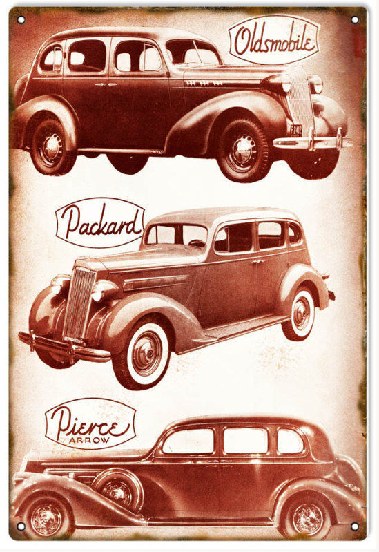 Primary image for Reproduction Oldsmobile Packard Pierce Automobile Sign