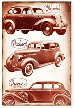 Reproduction Oldsmobile Packard Pierce Automobile Sign - $25.74