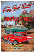 Extra Large American Dream Chevrolet Hot Rod Sign - $41.58