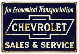 Reproduction Economical Transportation Chevrolet Sign 16X24 - $39.55
