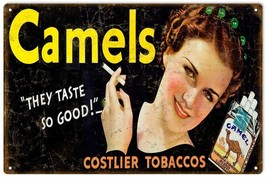 Camels Tobacco Smoke Cigarettes Sign - $23.76