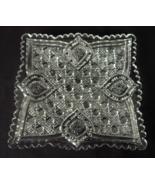 Pressed Glass Square Candy Tidbit Dish Button &... - $7.00