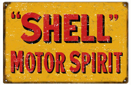 Shell Motor Oil Gas Station Sign Garage Art Reproduction - $23.76