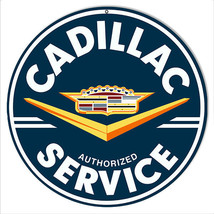 Cadillac Service Sign 14 Round - $23.76
