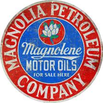 Reproduction  Magnolia Petroleum Company Motor Oil Sign Garage Art - $25.74
