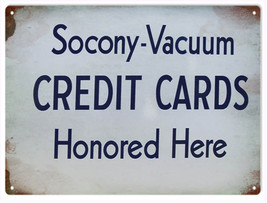 Reproduction Socony-Vacuum Credit Card Sign - $19.80