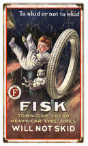 Nostalgic Fisk Tire Advertisement Reproduction - $19.80