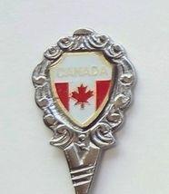 Collector Souvenir Spoon Canada Ontario Iroquois Falls Flag - $4.99