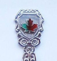 Collector Souvenir Spoon Canada Maple Leaf Cloisonne - $4.99