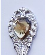 Collector Souvenir Spoon Canada Saskatchewan Glenside Heritage 1985 Emblem - $2.99