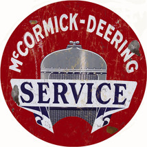 Large McCormick Deering Service Station and Gas Vintage Look Reproduction Sign - $46.53